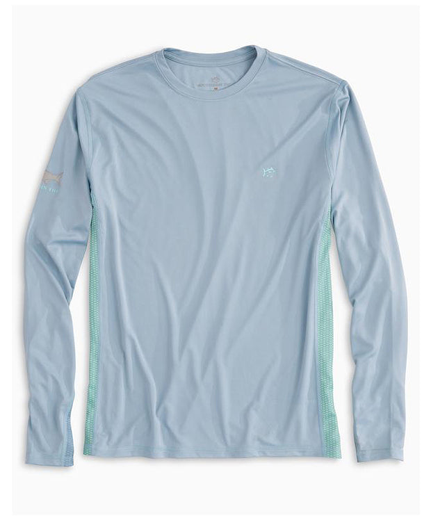 Southern Tide - Original Skipjack Grey Tarpon Long Sleeve Performance Tee