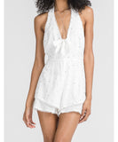 Lush - Romper With Pom Pom Trim