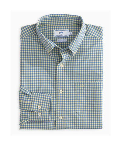 Southern Tide - Causeway Gingham IC Perf L/S Sport Shirt