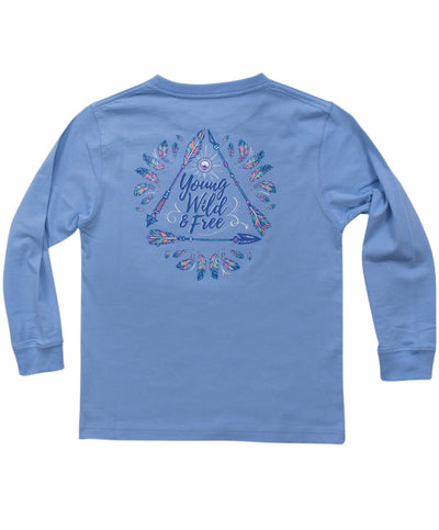 Southern Shirt Co - Youth Wild and Free Long Sleeve Tee