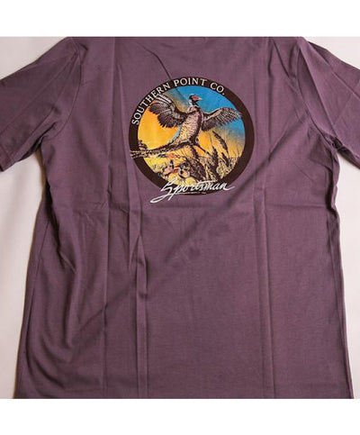 Southern Point - Sportsman Pheasant Signature Tee - Grape