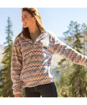 Southern Marsh - Tangier Ikat Fleece Pullover
