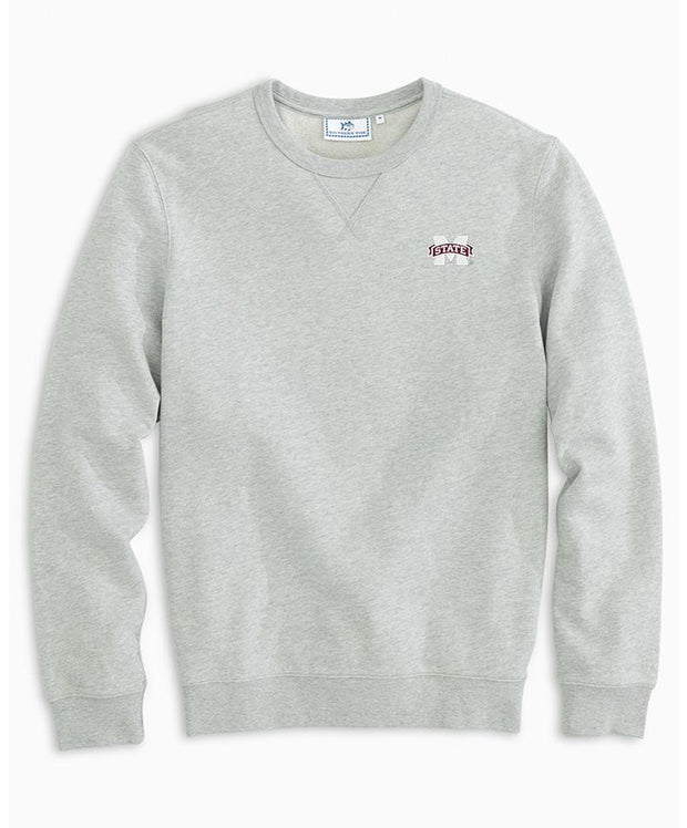 Southern Tide - Mississippi State Gameday Heather Upper Deck Pullover