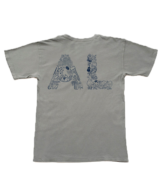 The State Company - AL State Initials Montage Tee