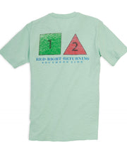 Southern Tide - Red Right Returning Tee - Sea Foam Back