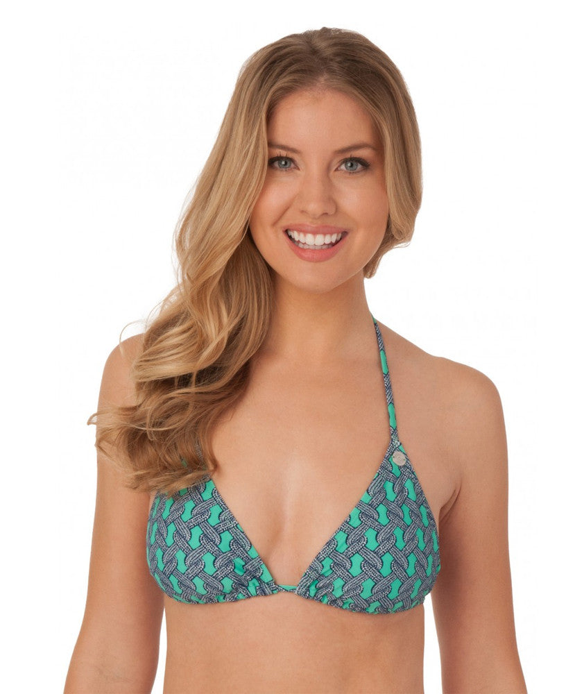 Southern Tide - Ladies Bikini Top Swimwear - Printed - Bermuda Teal