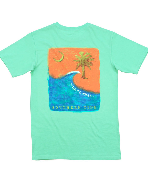 Southern Tide - Tide to Trail T-Shirt - Bermuda Teal