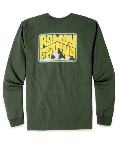 Rowdy Gentleman - Psych Mountain Pocket Long Sleeve Tee