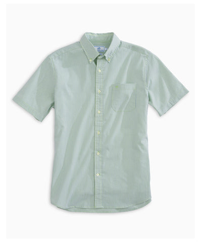 Southern Tide - Sugar Cane Seersucker Short Sleeve Sport Shirt
