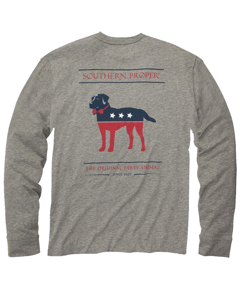 Southern Proper - Party Animal  Long Sleeve Tee