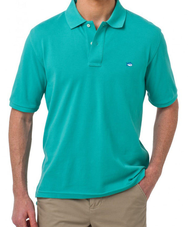 Southern Tide - Classic Skipjack Polo - Haint Blue
