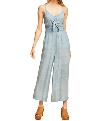 Entro - Knotted Front Jumpsuit