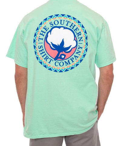 Southern Shirt Co - Tribal Print  Logo T-Shirt - Island Reef Back