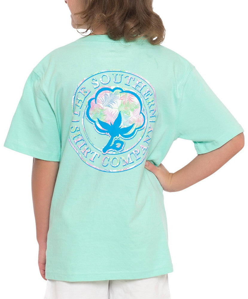 Southern Shirt Co - Youth Palm Print Logo Tee