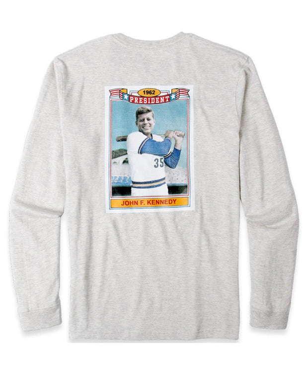 Rowdy Gentleman - JFK Rookie Card Pocket Long Sleeve Tee