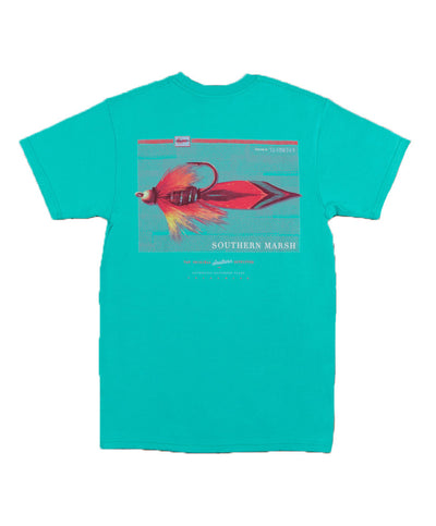 Southern Marsh - Outfitter Series Tee: Three - Jockey Green Back