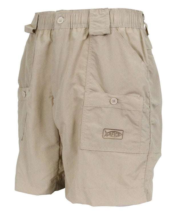 "Aftco - Original Long Fishing Shorts 18"" - Khaki"