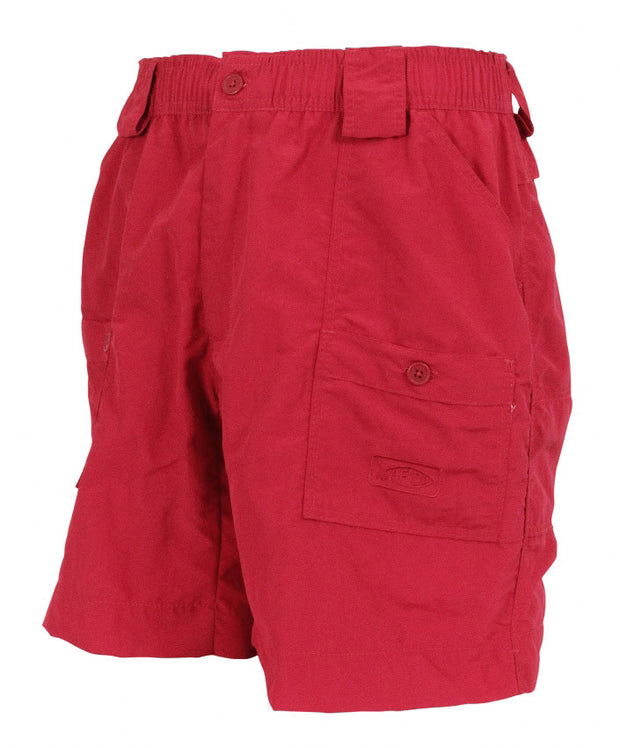 "Aftco - Original Long Fishing Shorts 18"" - Red"