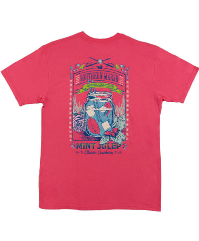 Southern Marsh - Cocktail Collection Tee: Mint Julep - Strawberry Fizz Back