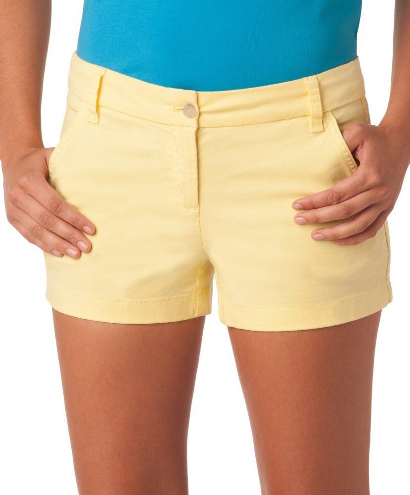"Southern Tide - Ladies Chino Shorts 3"" - Lemonade"
