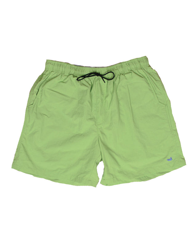 Southern Marsh - The Dockside Swim Trunk - Lime w/ Chill Blue Duck