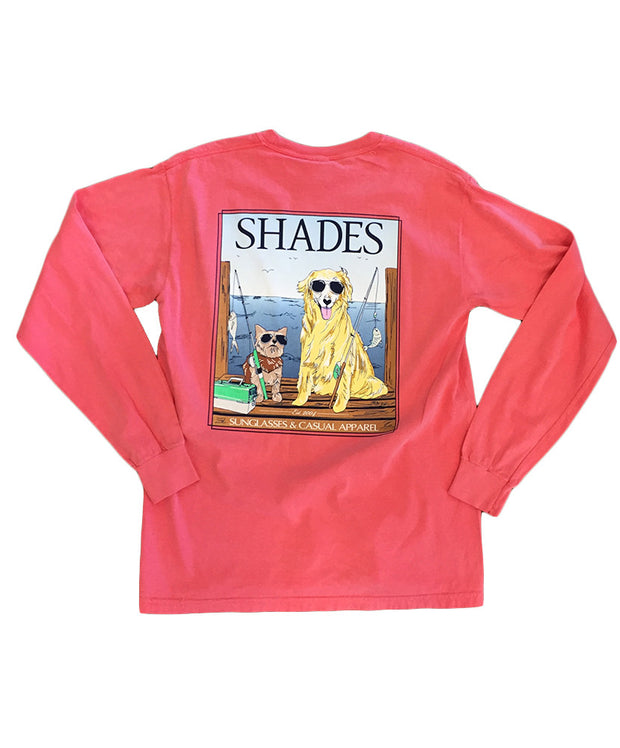 Shades - Dogs on the Dock Long Sleeve Tee