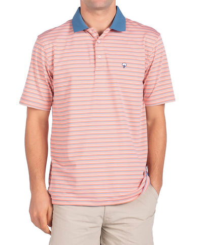 Southern Shirt Co - Brunswick Stripe Perf Polo