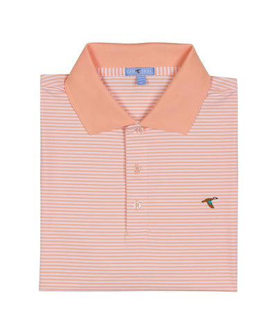 GenTeal - Classic Stripe Performance Polo