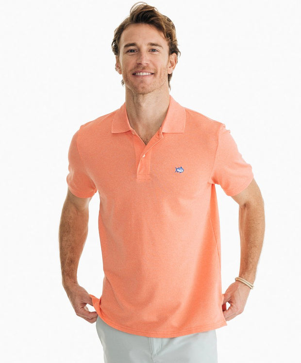 Southern Tide - Jack Heathered Performance Pique Polo