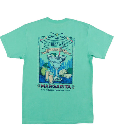 Southern Marsh - Cocktail Collection Tee: Margarita - Back