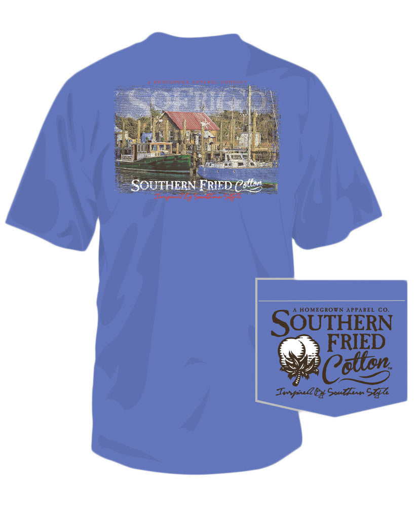 Southern Fried Cotton - Marina Pocket Tee
