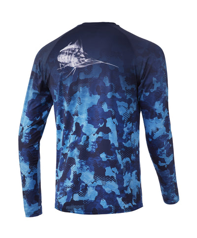 Huk - Refraction Fish Fade Long Sleeve