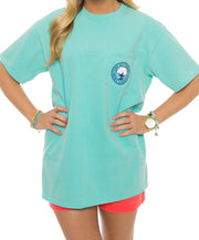 Southern Shirt Co. - Bow Tie Tradition Tee - Chalky Mint Front