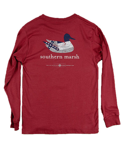 Southern Marsh - Authentic Heritage Mississippi Long Sleeve Tee