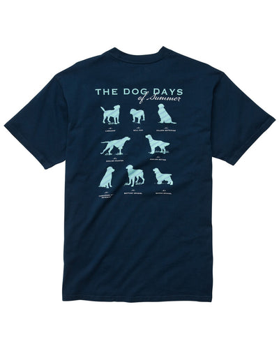Southern Proper - Dog Days Tee - Navy - Back