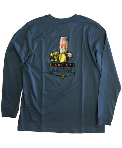 Southern Point - Signature L/S Tee RealTree Sportsman - Iron Blue