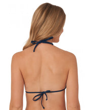 Southern Tide - Ladies Bikini Top Swimwear - Solid - Navy Back