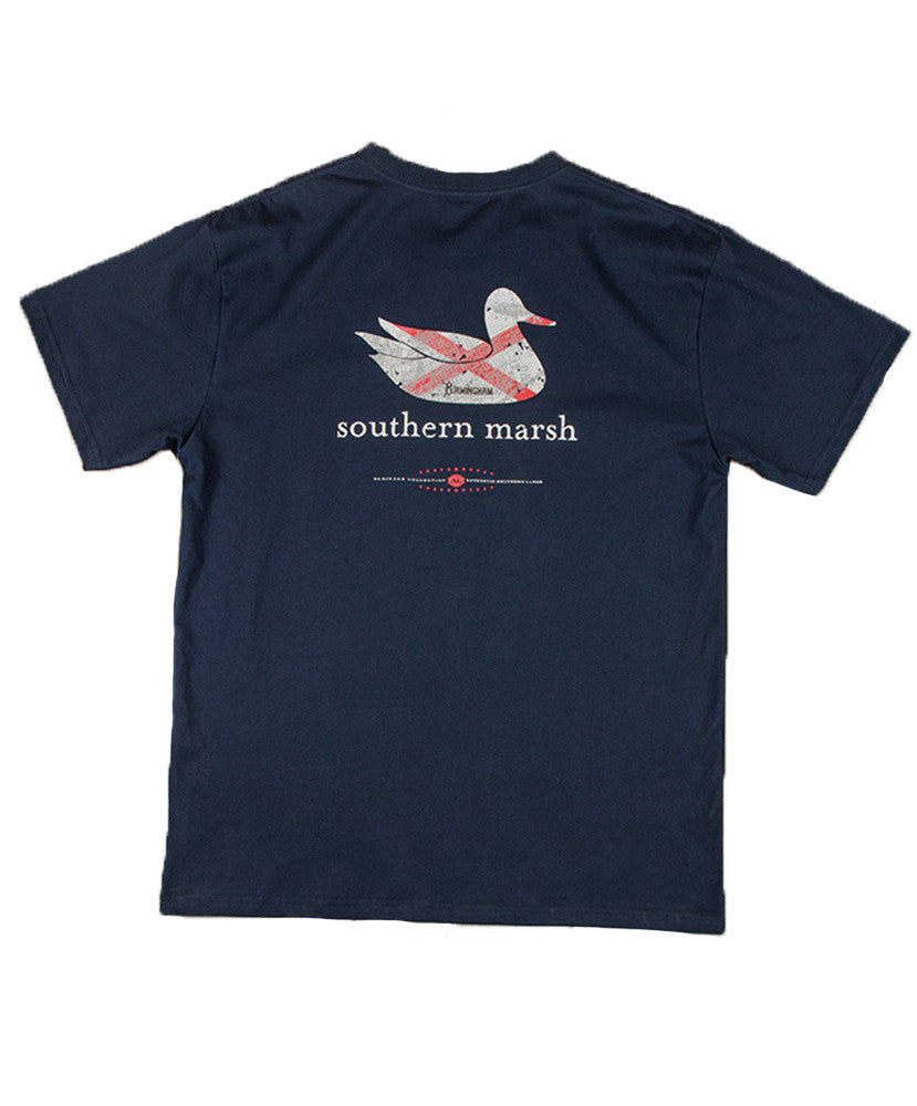 Southern Marsh - Authentic Heritage: Alabama Short Sleeve Tee - Navy
