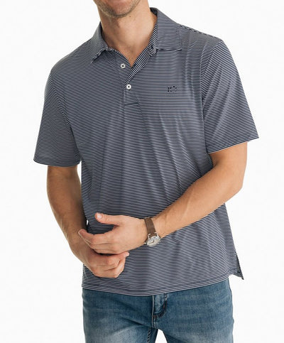 Southern Tide - BRRR Driver Stripe Performance Polo
