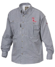 Drake - Ole Miss Plaid Wingshooter's Long Sleeve Shirt