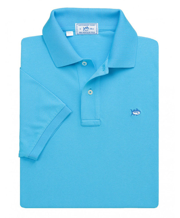 Southern Tide - Classic Skipjack Polo - Ocean Blue
