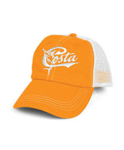 Costa - Retro Trucker Hat - Orange/White