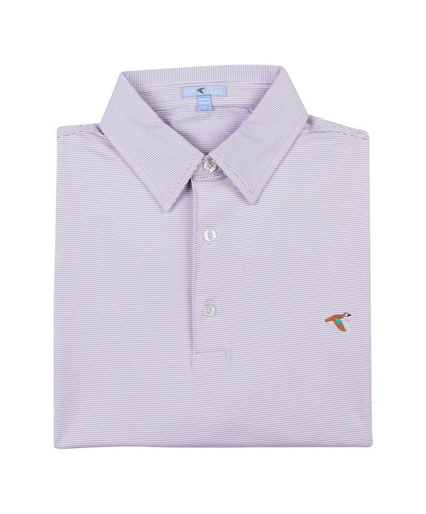 GenTeal - Pinstripe Performance Polo