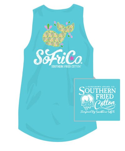 Southern Fried Cotton - Paisley Whale Tank