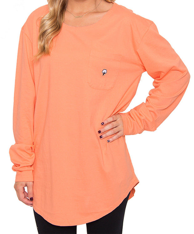 Southern Shirt Co. - Kimmy Boatneck Long Sleeve - Papaya