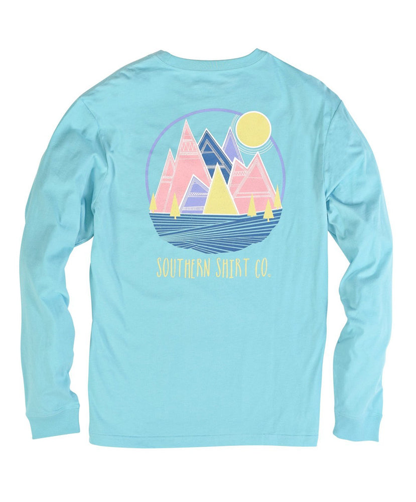 Southern Shirt Co. - Patch Mountains Long Sleeve Tee