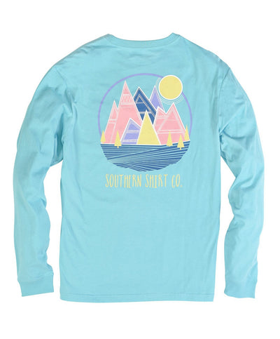 Southern Shirt Co - Patch Mountains Long Sleeve Tee