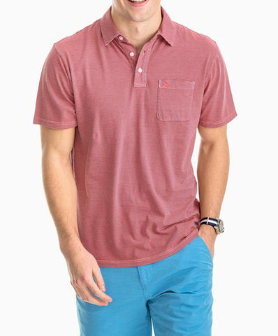 Southern Tide - Micro Striped Island Road Jersey Polo