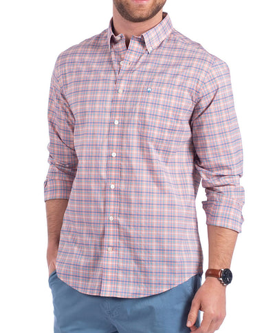 Southern Shirt Co - Broad Street Check Perf L/S Shirt