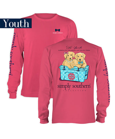 Simply Southern - Youth Girls in Pearls Long Sleeve Tee